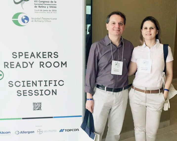 RAQUEL FONSECA e MÁRCIO EULÁLIO - 2016 - VII Congreso de La Sociedad Panamericana de Retina y Vitreo